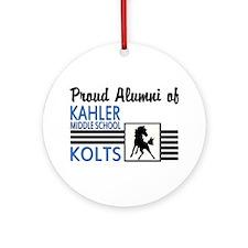 Kahler Alumni Ornament (Round)