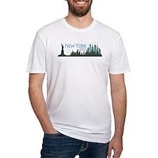 NYC Liberty Skyline textured dark Shirt