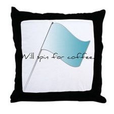 Colorguard Will spin for coffee Throw Pillow