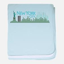 NYC Liberty Skyline lite baby blanket