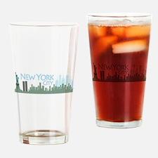NYC Liberty Skyline lite Drinking Glass