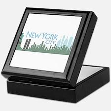NYC Liberty Skyline lite Keepsake Box