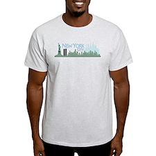 NYC Liberty Skyline lite T-Shirt