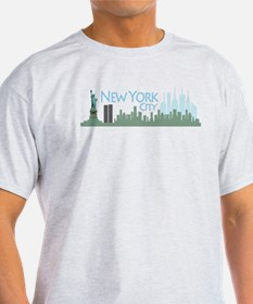 NYC Liberty Skyline lite T-Shirt