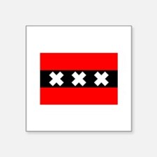 "amsterdam flag.jpg Square Sticker 3"" x 3"""