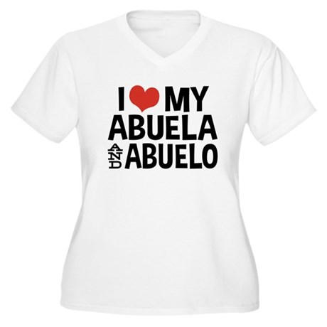 I Love My Abuela and Abuelo, Women's Plus Size V-N