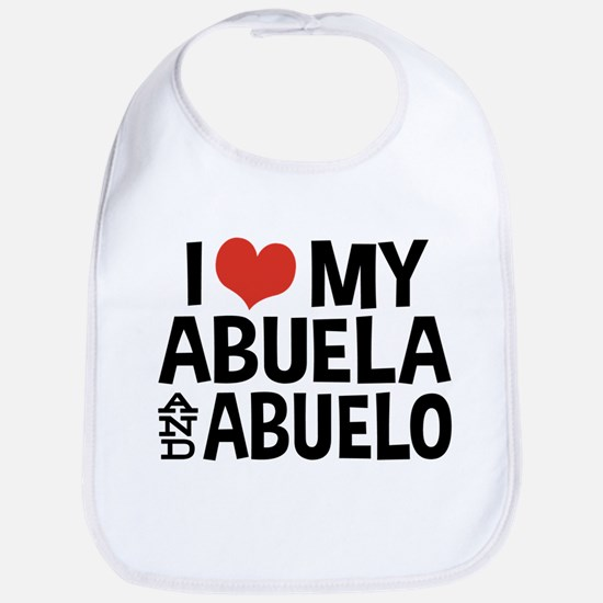 I Love My Abuela and Abuelo, Bib