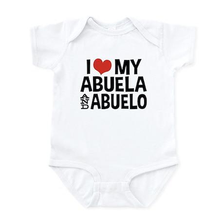 I Love My Abuela and Abuelo, Infant Bodysuit