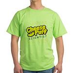 Cheese Puff Scientist Green T-Shirt