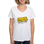Cheese Puff Scientist Women's V-Neck T-Shirt