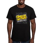 Cheese Puff Scientist Men's Fitted T-Shirt (dark)