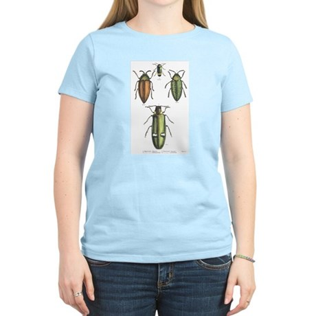 Beetle Insects Women's Pink T-Shirt