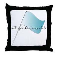 Colorguard Will spin for chocolate. Throw Pillow