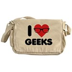 I Heart Geeks Messenger Bag