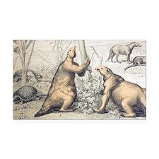 1862 Giant Ground Sloth Megatherium - Car Magnet