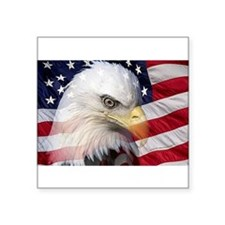 "American Pride Square Sticker 3"" x 3"""