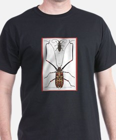 Brazil Beetle Insects (Front) Black T-Shirt