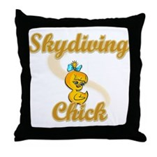 Skydiving Chick #2 Throw Pillow