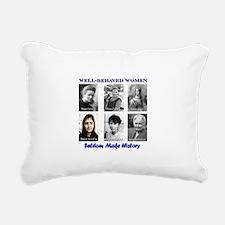Well-Behaved Women Rectangular Canvas Pillow