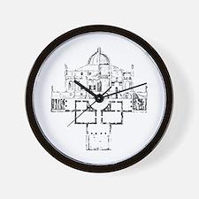 Andrea Palladio Villa Rotunda Wall Clock