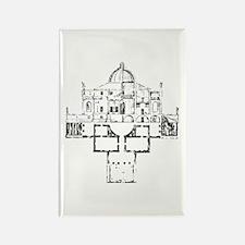 Andrea Palladio Villa Rotunda Rectangle Magnet