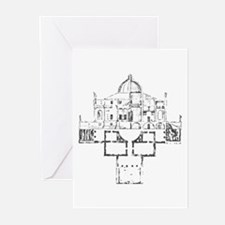 Andrea Palladio Villa Rotunda 6 Greeting Cards