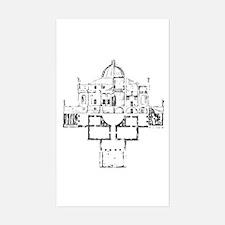 Andrea Palladio Villa Rotunda Sticker -Rectangular
