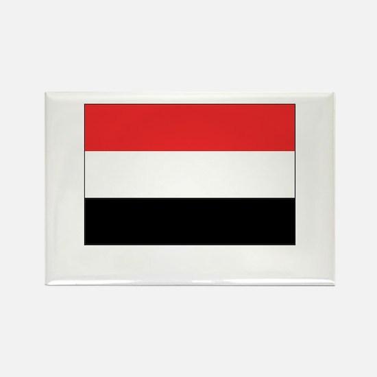Yemen Flag Picture Rectangle Magnet