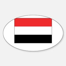 Yemen Flag Picture Oval Decal