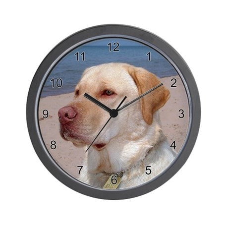 Sept Lab of the Month Wall Clock