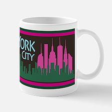 NYC Liberty Skyline chocolate Mug