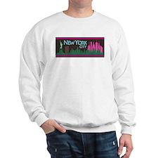 NYC Liberty Skyline chocolate Sweatshirt