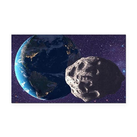 Asteroid approaching Earth - Car Magnet by sciencephotos