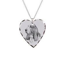 Basset Hound Necklace Heart Charm