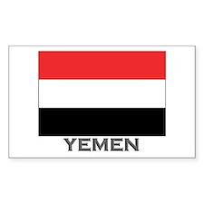 Yemen Flag Stuff Rectangle Decal