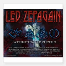 "Led Zepagain Square Car Magnet 3"" x 3"""