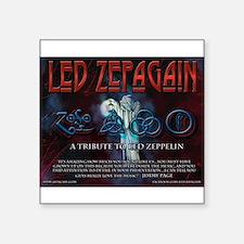 "Led Zepagain Square Sticker 3"" x 3"""
