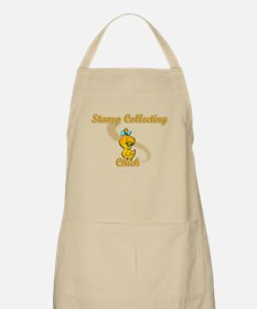 Stamp Collecting Chick #2 Apron