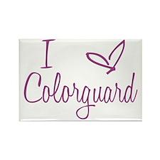 I love Colorguard Rectangle Magnet