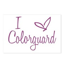 I love Colorguard Postcards (Package of 8)
