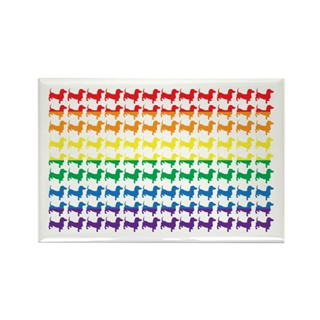 Original Patriotic Wiener Rectangle Magnet (100 pa
