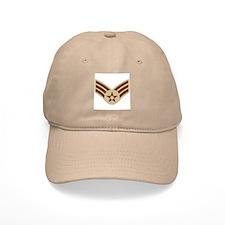 Senior Airman <BR>Khaki Baseball Baseball Cap