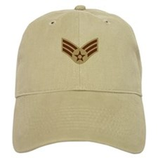Senior Airman <BR>Khaki Baseball Cap