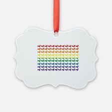 Doxie Gay Pride Flag Print Ornament