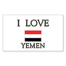 I Love Yemen Rectangle Decal