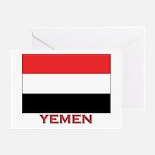 Yemen Flag Merchandise Greeting Cards (Package of