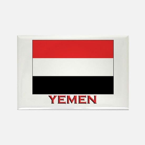 Yemen Flag Merchandise Rectangle Magnet