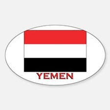 Yemen Flag Merchandise Oval Decal