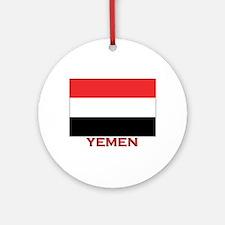 Yemen Flag Merchandise Ornament (Round)