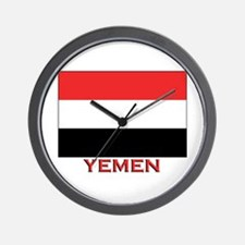 Yemen Flag Merchandise Wall Clock
